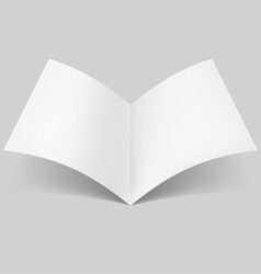 Open blank book vector image vector image