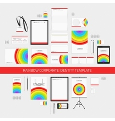 Rainbow corporate identity template vector image