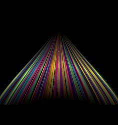 rainbow road vector image