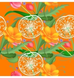 Seamless flower pattern vector image