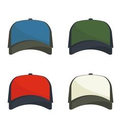 Set baseball caps vector
