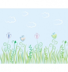 summer grass background vector image vector image