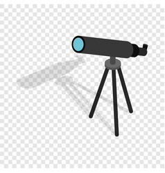 telescope isometric icon vector image