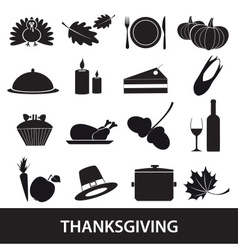 thanksgiving icons set eps10 vector image vector image