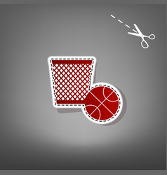 trash sign red icon with for vector image vector image