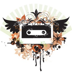 urban music graphic vector image vector image
