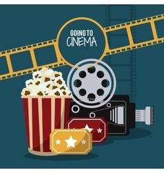 video camera movie film cinema icon vector image vector image