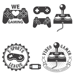 video gamer vector image vector image