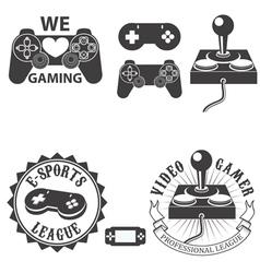 Video gamer vector