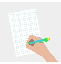 Hand writing drawing pen Woman holding pencil vector image