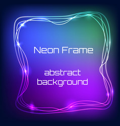 Neon light frame vector