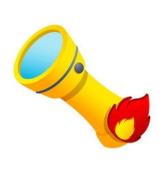 Icon flashlight vector