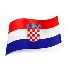 National flag of croatia red white and blue vector