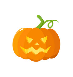 Jack o lantern pumpkin with carved scary face vector