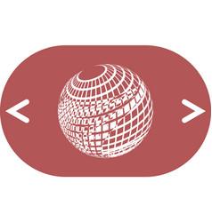 Wire-frame design element sphere vector