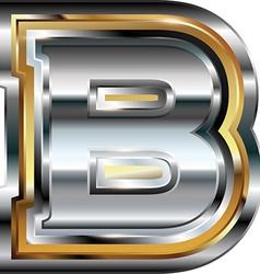 Fancy font Letter B vector image