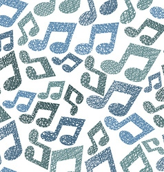 Music theme seamless pattern with notes repeating vector
