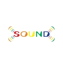 Soundtext vector
