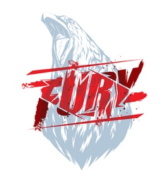 Fury sign with crow head vector