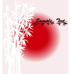 Bamboo silhouette over sun vector