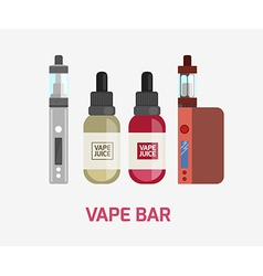 Vape device set vaping juice for vape vape trend vector
