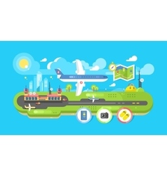 Airport building infrastructure vector image