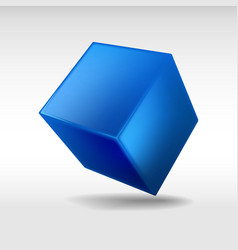 Blue cube vector image