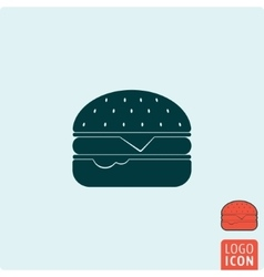 Burger icon isolated vector