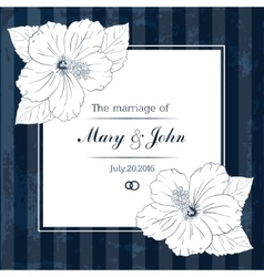 Marriage design template with custom names in vector