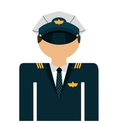 Pilot avatar isolated icon design vector