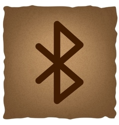 Bluetooth sign vintage effect vector
