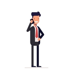 Businessman or manager in a business suit standing vector image vector image