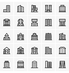 Civil buildings vector