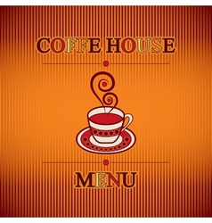 coffe menu vector image