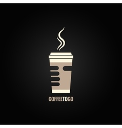 coffee cup hand concept design background vector image