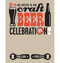 Craft Beer Invitation vector image vector image