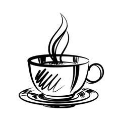 Cup of coffee cartoon vector