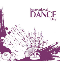 dance day belly dance accessories vector image