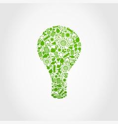 Ecology a bulb vector image