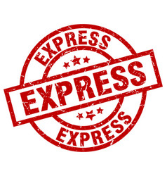 express round red grunge stamp vector image vector image
