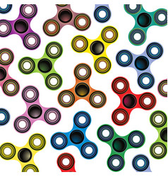 Fidget spinner focus toy colorful background vector