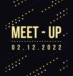 Geometric cover design meet up card style vector