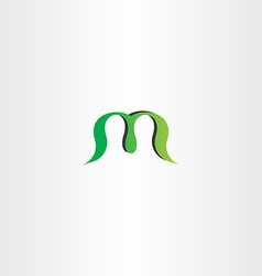 Green logotype logo m letter m sign icon vector