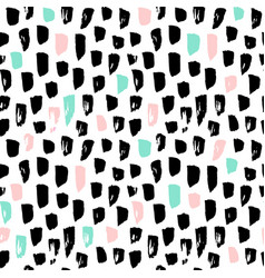 hipster paint blots seamless pattern vector image vector image