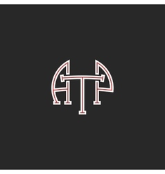 Logo ATP letters hipster monogram combination vector image vector image