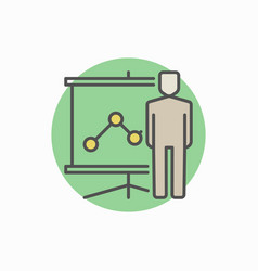 Man with presentation icon vector