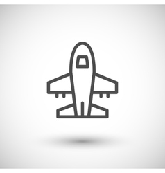 Plane line icon vector image vector image