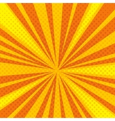Pop art cartoon retro blast sunburst vector
