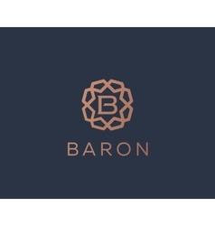 Premium letter b logo icon design luxury vector
