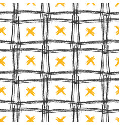 seamless pattern with grunge textures hand drawn vector image vector image